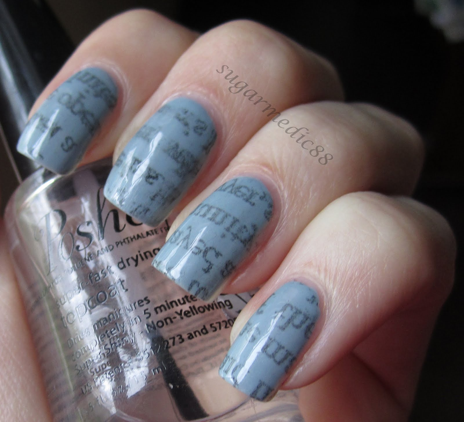 NewsPaper Nails Tutorial | NayDanielleBlog