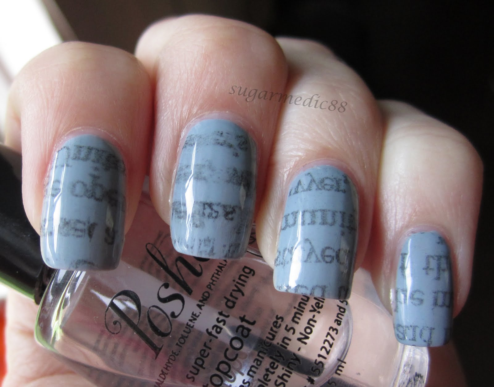 Attractive Newspaper Nails Without Newspaper Sketch - Nail Art Ideas ...